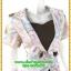 3023ชุดทํางาน เสื้อผ้าคนอ้วนผ้าลายดอกไทยวินเทจ เสื้อนอกคลุมมีชุดด้านในเย็บติดเข้ารูปร่างเอวมีสัดส่วนทรวดทรงโฉบเฉี่ยวมั่นใจแบบสไตล์สาวทำงานกระโปรงทรงสอบมีซับใน thumbnail 2