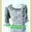 2429เสื้อผ้าคนอ้วน ชุดทำงานแต่งผ้าชีฟองลายดอกและผ้าแก้วราตรี คอปกบัว แขนยาวปลายแขนระบายเสริมชิ้นลอยชายกระโปรงสไตล์ภูมิฐาน น่าเชื่อถือ thumbnail 2