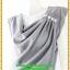 2909เสื้อผ้าคนอ้วน เสื้อผ้าแฟชั่นคอถ่วงสีเทาดีไซน์งานการ่าระดับเฟริ์ทคลาส คอถ่วงย้วยไล่ระดับแนวเฉลียง ทรงถ่วงเองกระโปรงสอบ thumbnail 2