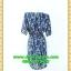 2568เสื้อผ้าคนอ้วน เสื้อผ้าแฟชั่นสีน้ำเงินลายสายโซ่พรางสวยลุคหรูสง่างามคอวีโค้งรูปหัวใจโชว์เครื่องประดับสไตล์ออกงานเรียบหรู thumbnail 4