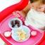 Boon - Groovy Toddler Plate Bowl & Utensils Set, BPA-Free, Berry and Cream ชุดถาดอาหาร พร้อมช้อนและส้อม thumbnail 1