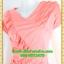 2815 ชุดออกงานคนอ้วน ชุดไปงานแต่ง ชุดเดรสทำงาน คอวีสีส้มตีเกล็ดและระบายด้านหน้าด้วยผ้าเกาหลีสไตล์เนี๊ยบหรู thumbnail 3