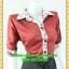 1998เสื้อผ้าคนอ้วน เสื้อผ้าแฟชั่นวาเลนติโน่แดงปกเชิ๊ตแขนยาวครึ่งศอกปลายแขนตุ๊กตากระดุมหน้าสไตล์สาวมั่นคล่องตัว thumbnail 2