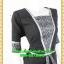2472ชุดทํางาน เสื้อผ้าคนอ้วนเทาลายวินเทจตัดต่อผ้าพื้นและลายคั่นด้วยกุ้นสี แขนยาว สไตล์เนี๊ยบสุดหรูมีรสนิยมเลือกชุดทำงาน thumbnail 2