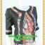 2421เสื้อผ้าคนอ้วน เสื้อผ้าแฟชั่นคอกลมตัวในมีตัวนอกคลุมทับลายทางพรางสรีระสไตล์หวานเรียบร้อยสุภาพเป็นทางการ thumbnail 2