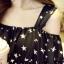 ชุดเดรสแฟชั่นกึ่งเสื้อ ผ้าชีฟองสวยหวานสไตล์เกาหลี มี 2 สี(ดำ/ขาว)-1033 thumbnail 10