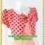 1979ชุดทํางาน เสื้อผ้าคนอ้วนคอกลมสีลาเวนเดอร์แต่งกั๊กลายรุ้งสไตล์เกาหลีสวมใส่ทำงานน่ารักสะดุดตา thumbnail 2