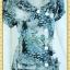2313ชุดแซกทำงาน เสื้อผ้าคนอ้วนผ้าวาเลนติโน่เนื้อนิ่มทิ้งตัวเก็บทรง อกเล่นระบายป้ายยาว ปกบัวแขนตุ๊กตามีกระเป๋าล้วง thumbnail 2