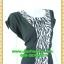 2560ชุดทํางาน เสื้อผ้าคนอ้วนคอกลมดอกตัดต่อพิ้นช่วงข้างลำตัวปรับสรีระให้บางและพรางรูปร่างเทรนด์คลาสสิคสีดำมีซับใน thumbnail 2