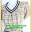 2819เสื้อผ้าคนอ้วน ชุดทำงานลายสก็อต คอวีแต่งขอบตกแต่งเพิ่มลวดลาย ขอบเอวและกระเป๋าอย่างโดดเด่นสไตล์สาวมั่น thumbnail 3