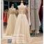 รหัส ชุดราตรี :PF016 ชุดเดรส ชุดราตรียาวสีครีม ประดับคริสตัสสุดหรู งดงามดังเจ้าหญิง ส่ไปงานแต่งงาน ชุดออกงานกาล่าดินเนอร์ งานเลี้ยง งานพรอม งานรับกระบี่ thumbnail 2
