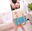 กระเป๋าเป้ กระเป๋าสะพายหลัง สำหรับผู้หญิง หนังนุ่ม สีฟ้า thumbnail 5
