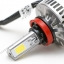 ไฟหน้า LED ขั้ว H8/9/11 รุ่น 3 COB Chip แสง 3000K thumbnail 4