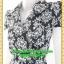 1908ชุดทํางาน เสื้อผ้าคนอ้วนลายvintageสีกรมสไตล์เปรี้ยวหรูไฮโซชุดป้ายสำเร็จมีปกแขนยาวแต่งโบข้างเอวเก็บทรงเนี๊ยบสุด thumbnail 3