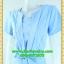 2596เสื้อผ้าคนอ้วน ชุดทำงานสีฟ้าวันแม่คอกลมแทรกชิ้นกลางอกพร้อมตีเกล็ดสไตล์เรียบเก๋กระโปรงย้วยเล็กน้อย thumbnail 3