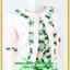3016เสื้อผ้าคนอ้วน เสื้อผ้าแฟชั่นคอกลมตัวในมีตัวนอกคลุมทับลายเขียวสไตล์หวานเรียบร้อยสุภาพเป็นทางการ thumbnail 2
