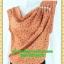 2512เสื้อผ้าคนอ้วน เสื้อผ้าแฟชั่นคอถ่วงน้ำตาลดีไซน์งานการ่าระดับเฟริ์ทคลาส คอถ่วงย้วยไล่ระดับแนวเฉลียง ทรงถ่วงเองกระโปรงสอบ thumbnail 3