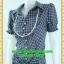 2495ชุดเดรสทำงาน เสื้อผ้าคนอ้วนผ้าตาราง ปกเชิ๊ตกระดุมหน้าทรงสุภาพกระโปรงจีบเรียบร้อย ลวดลายเทรนด์เกาหลี thumbnail 3