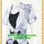 2674ชุดทํางาน เสื้อผ้าคนอ้วนผ้าลายดอกไทยวินเทจ เสื้อนอกคลุมมีชุดด้านในเย็บติดเข้ารูปร่างเอวมีสัดส่วนทรวดทรงโฉบเฉี่ยวมั่นใจแบบสไตล์สาวทำงานกระโปรงทรงสอบมีซับใน thumbnail 3