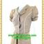 2593ชุดทํางาน เสื้อผ้าคนอ้วนชุดลายดอกฟ้าผ้าผ้าไหมเทียม แขนตุ๊กตา กระโปรงย้วย สไตล์หวานเรียบร้อย กระดุมหน้า แต่งเกล็ดด้านหน้าผูกโบเอว thumbnail 2