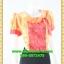 2756ชุดแซกทำงาน เสื้อผ้าคนอ้วนลายดอกคอตลบเสริมโบช้างปกสไตล์คลาสสิคเนี๊ยบ กระโปรงทรงเข้าเอสวมใส่ทำงานสุภาพเรียบร้อย thumbnail 2