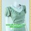 2022เสื้อผ้าคนอ้วน ชุดทำงานลายชิโนริ คอวีแต่งขอบคอขาวกดทับลูกไม้ตกแต่ง ขอบเอวและกระเป๋าอย่างโดดเด่นสไตล์สาวมั่น thumbnail 2