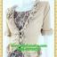 2511ชุดแซกทำงาน เสื้อผ้าคนอ้วนปูลูกไม้ตัวในคลุมด้วยตัวนอกแต่งระบายปกแขนสไตล์หรูเนี๊ยบ thumbnail 3