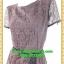 2516ชุดทํางาน เสื้อผ้าคนอ้วนชุดคอกลมเข้ารูปสไตล์workingเบรคอกด้วยลายลูกไม้ที่ปรับสรีระและเพิ่มความมั่นใจ ภูมิฐาน น่าเชื่อถือ thumbnail 3