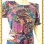 1636ชุดแซกทำงาน เสื้อผ้าคนอ้วนผ้าชีฟองลายวินเทจคอกลม แขนยาวแต่งระบาย เข้ารูปช่วงเอวด้วยโบว์กระโปรงทิ้งตัวทรงเอย้วยเล็กน้อยสไตล์สาววินเทจ thumbnail 3