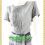 2926ชุดทํางาน เสื้อผ้าคนอ้วนสีเทากระโปรงลายสก็อตคอกลมแต่งเกล็ดด้านหน้าคลาสสิคสวมใส่ได้หลายโอกาส thumbnail 3