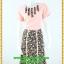 3108ชุดทำงานคนอ้วนสีชมพู คอกลมแต่งจีบด้านหน้าโดดเด่นด้วยกระโปรงลายดอกแยก10ชิ้นทรงเอสไตล์หวานสุภาพเรียบร้อย thumbnail 1