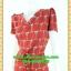 2620ชุดทํางาน เสื้อผ้าคนอ้วนคอวีสีแดงเลือดนกคอวีลายแขนฟิลิปปินส์แต่งโบด้านหน้า สไตล์ล้ำคลาสสิคสุภาพเป็นทางการอย่างโดดเด่นงานละเอียดด้วยซับใน thumbnail 3