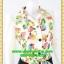 2668ชุดทํางาน เสื้อผ้าคนอ้วนชุดลายดอกสไตล์เชิ๊ตแขนยาวครึ่งศอกปลายแขนตุ๊กตากระดุมหน้ากระโปรงดำพรางสะโพก thumbnail 2