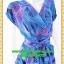 1909เสื้อผ้าคนอ้วน ชุดทำงานจับเดรฟกระโปรงสวยสะดุดตาสไตล์ออกงาน คอวีป้ายสีม่วงลาเวนเดอร์สุดหรู thumbnail 2