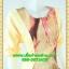 2805ชุดทํางาน เสื้อผ้าคนอ้วนสีเหลืองแต่งลายคอกลมแต่งแขนพื้นทรงหลวมสไตล์ญี่ปุ่นเรียบหรูสวมใส่สบาย thumbnail 2