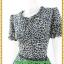 2864เสื้อผ้าคนอ้วน ชุดทำงานลายกราฟฟิคเสือ คอระบายผูกโบกระโปรงดำแต่งระบายชายเอวสไตล์หวานน่ารักแขนตุ๊กตามีจีบเล็กน้อยเก็บรายละเอียดมากให้ได้ความสวยงาม thumbnail 3
