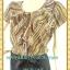 1449ชุดเดรสทำงาน เสื้อผ้าคนอ้วนคอกลมแต่งระบายปกย้วยเป็นพวงสีน้ำตาลทองกระดุมกลมเปิดด้านหน้า thumbnail 2