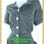 2917เสื้อผ้าคนอ้วน ชุดเดรสทำงานผ้าลายซาฟารีกระเป๋าล้วงข้างลำตัว กระดุมหน้ารูปแบบเรียบง่าย แขนสั้นธรรมดา แอบเก๋ด้วยสม็อกข้างลำตัวด้านซ้ายและขวาเป็นแบบที่เรียบง่ายสไตล์เท่ห์คล่องตัว thumbnail 3