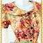 2057ชุดทํางาน เสื้อผ้าคนอ้วนคอบัวผ้าพิมพ์ลายกระโปรงยาวทรงย้วยสวยหวานด้วยสไตล์หวานเรียบร้อย thumbnail 3