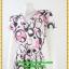 3013ชุดทํางาน เสื้อผ้าคนอ้วนคอวีสีชมพูลายกราฟฟิคแขนฟิลิปปินส์แต่งโบด้านหน้า สไตล์ล้ำคลาสสิคสุภาพเป็นทางการอย่างโดดเด่นงานละเอียดด้วยซับใน thumbnail 3