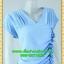 2463เสื้อผ้าคนอ้วน เสื้อผ้าแฟชั่นจับเดรฟข้างซ้ายสีฟ้าสง่างาม สะดุดตาจนน่าหลงไหล ชุดหรูสวมใส่ออกงานยามค่ำคืน ด้วยดีไซน์ที่ชวนมองและสะดุดตากับผ้าฮานาโกะเนื้อดีมีน้ำหนัก thumbnail 2