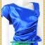 3054เสื้อผ้าคนอ้วน ชุดราตรีออกงานสีน้ำเงินสุดหรูคอวีจับเดรฟสุดปราณีตสวยงามหรูหรา น่าค้นหาเป็นที่สุด สวยและมั่นใจสไตล์ออกงาน thumbnail 3