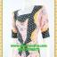 2728ชุดทํางาน เสื้อผ้าคนอ้วนสีชมพูลายวินเทจตัดต่อผ้าลายคั่นด้วยแถบดำ แขนยาว สไตล์เนี๊ยบสุดหรูมีรสนิยมเลือกชุดทำงาน thumbnail 3