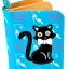 กระเป๋าสตางค์ สีฟ้า ลายแมวดำ น่ารัก ไม่เหมือนใคร thumbnail 1