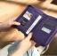 กระเป๋าสตางค์ใส่หนังสือเดินทาง พาสปอร์ต Passport Bag Travelus Purple สีม่วง thumbnail 1