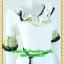 2555ชุดทํางาน เสื้อผ้าคนอ้วนผ้าเครปพิมพ์ลายข้างลำตัวโดดเด่นสะดุดตาแขนทรงระฆังคอกลมระบายรอบ สวมใส่สบายหรูหราอลังการเลือกใส่เป็นชุดออกงานเลิศหรู thumbnail 2