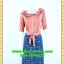 2507เสื้อผ้าคนอ้วน ชุดทำงานสีกะปิชุดคอระบายแขนยาวตีเกล็ดสวยงามจับคู่กระโปรงสไตล์แฟนซีสดใสมีซับในความยาวสุภาพคลุมเข่าผ้าเนื้อดี thumbnail 1