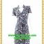 2657ชุดเสื้อผ้าคนอ้วน ชุดทำงานลายไทยวินเทจสไตล์เปรี้ยวหรูไฮโซชุดคอจีนป้ายสำเร็จเก็บทรงเนี๊ยบสุด พร้อมโบคาดเอว thumbnail 1