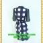 2417ชุดเดรสทำงาน เสื้อผ้าคนอ้วนชุดคอจีนแต่งดำคอแขนสไตล์เรียบโชว์ลายผ้าวาเลนติโน่ไม่ซ้ำใคร thumbnail 4