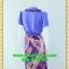 1435เสื้อผ้าคนอ้วน เสื้อผ้าแฟชั่นสีม่วงปกป้ายเดินเส้นคู่แต่งระบายหวานสไตล์สาวทำงานครบเครื่อง thumbnail 4
